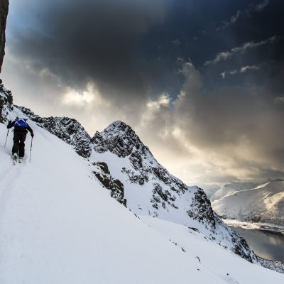 Lofoten. Light and snow.